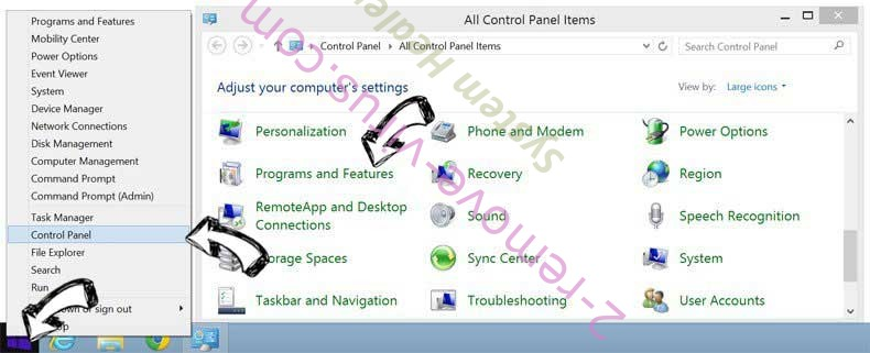 Delete StreamlinedDIY Toolbar from Windows 8