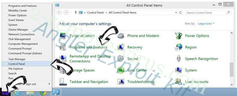 Delete Email Assistant Virus from Windows 8
