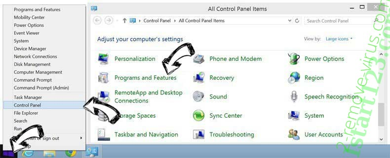 Delete Istart123.com from Windows 8
