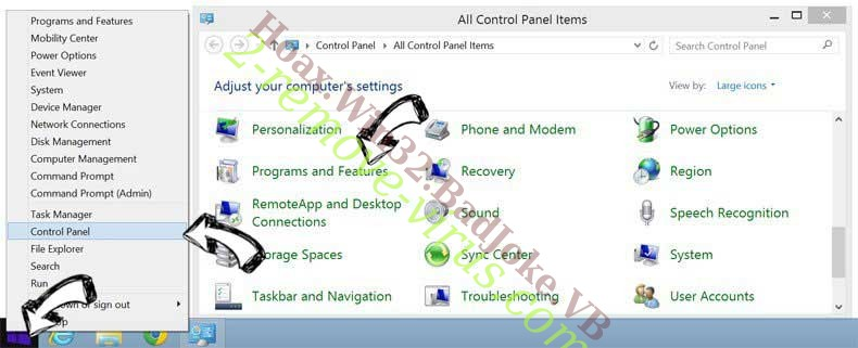 Delete Advanced Password Manager from Windows 8