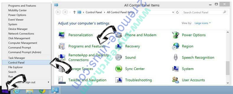 Delete PC Clean Pro from Windows 8