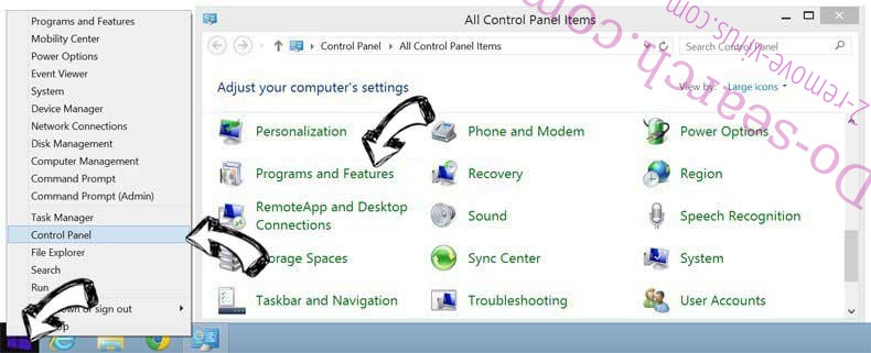 Delete SportHero Toolbar from Windows 8