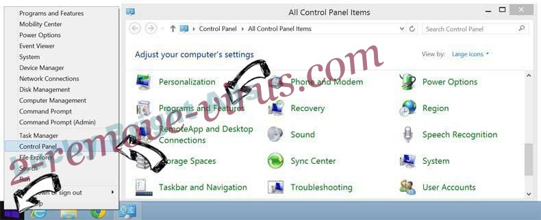 Delete Easy Television Access Virus from Windows 8