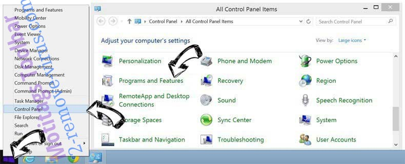 Delete Sweetpacks Toolbar from Windows 8