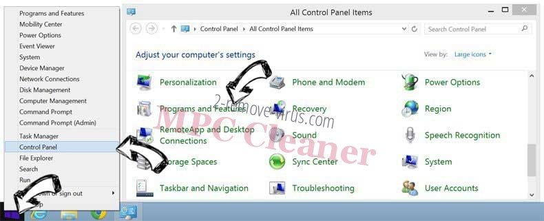 Delete Mac Optimizer from Windows 8