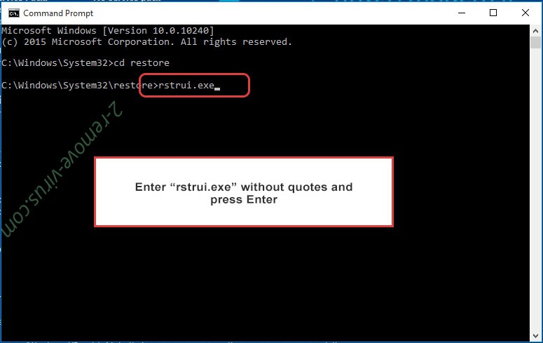 Delete Error 268d3 Scam - command prompt restore execute