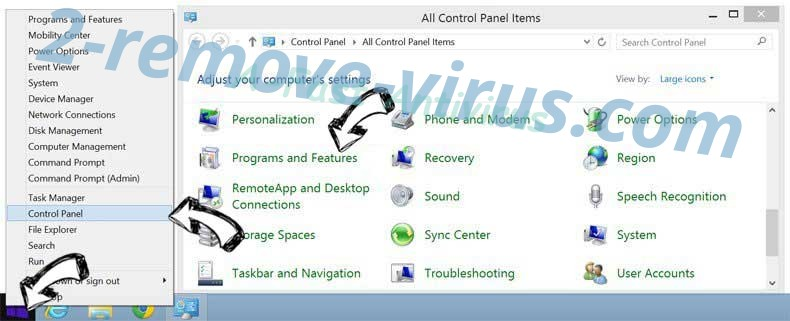 Delete A-Fast Antivirus from Windows 8