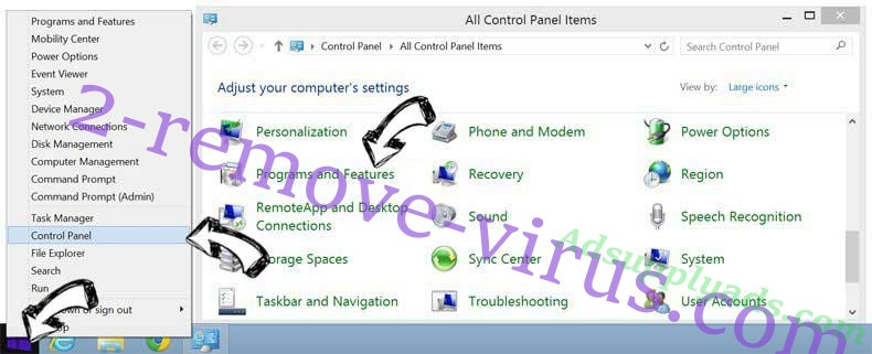 Delete Search Encrypt from Windows 8