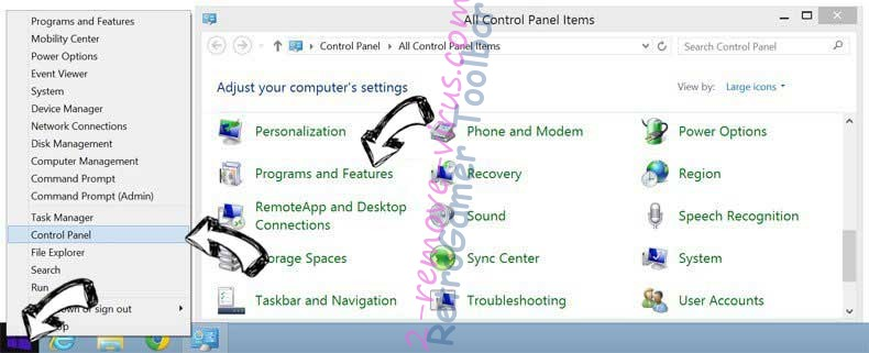 Delete RetroGamer Toolbar from Windows 8