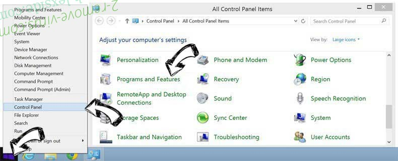 Delete Myhome.vi-view.com from Windows 8
