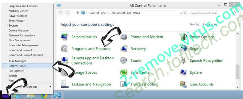 Delete .ccc File Extension Virus from Windows 8