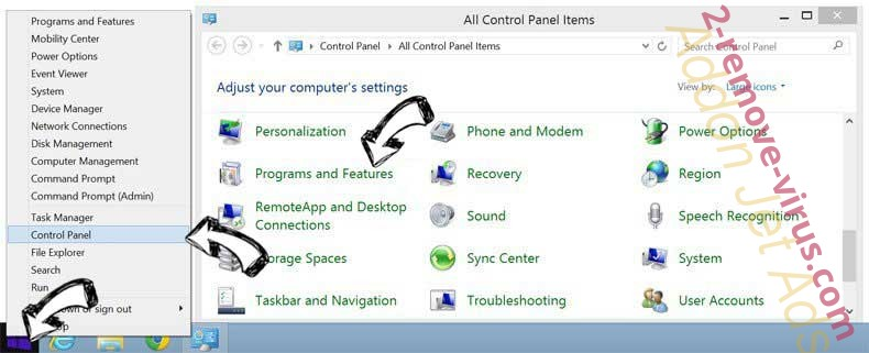 Delete Combo-Search.com from Windows 8