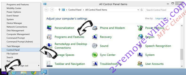 Delete MPC Cleaner from Windows 8