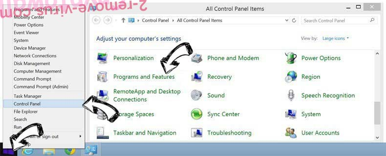 Delete FreeManualsIndex Toolbar from Windows 8