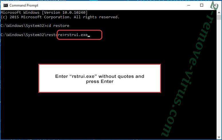 Delete AdamLocker - command prompt restore execute