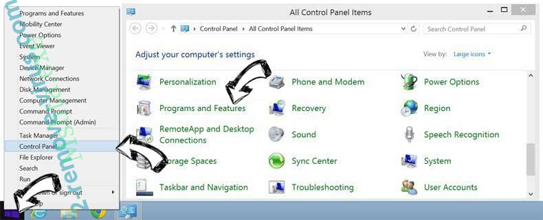 Delete Start.mysearchdial.com from Windows 8