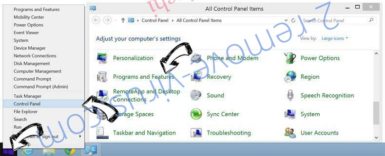 Delete Yontoo Pagerage from Windows 8
