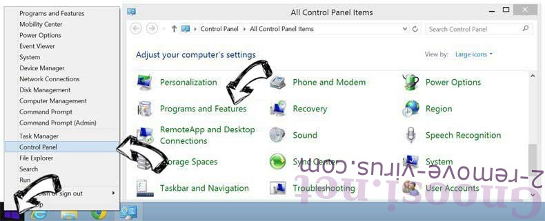 Delete PC Utilities Pro from Windows 8