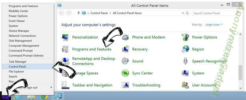 Delete start.mysearchs.com from Windows 8