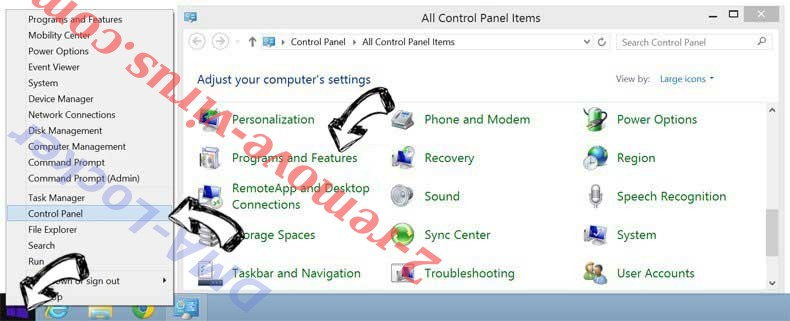 Delete DMA-Locker from Windows 8