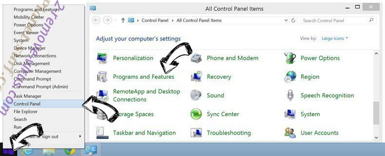 Delete Planet-surf.com from Windows 8