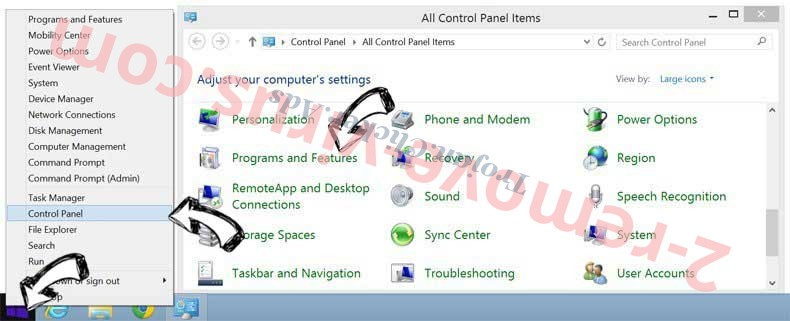 Delete Interior Design New Tab from Windows 8