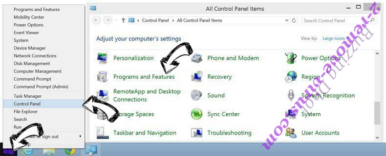 Delete Buzzing Dhol from Windows 8
