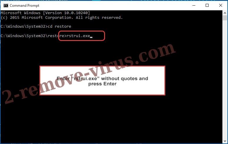 Delete Csrss.exe Trojan - command prompt restore execute