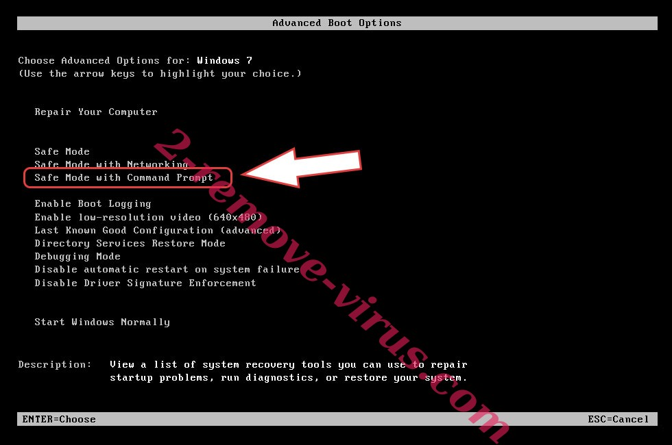 Remove AVCrypt Ransomware - boot options