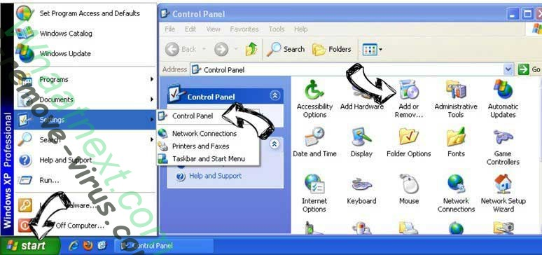 Remove Polaris Search from Windows XP