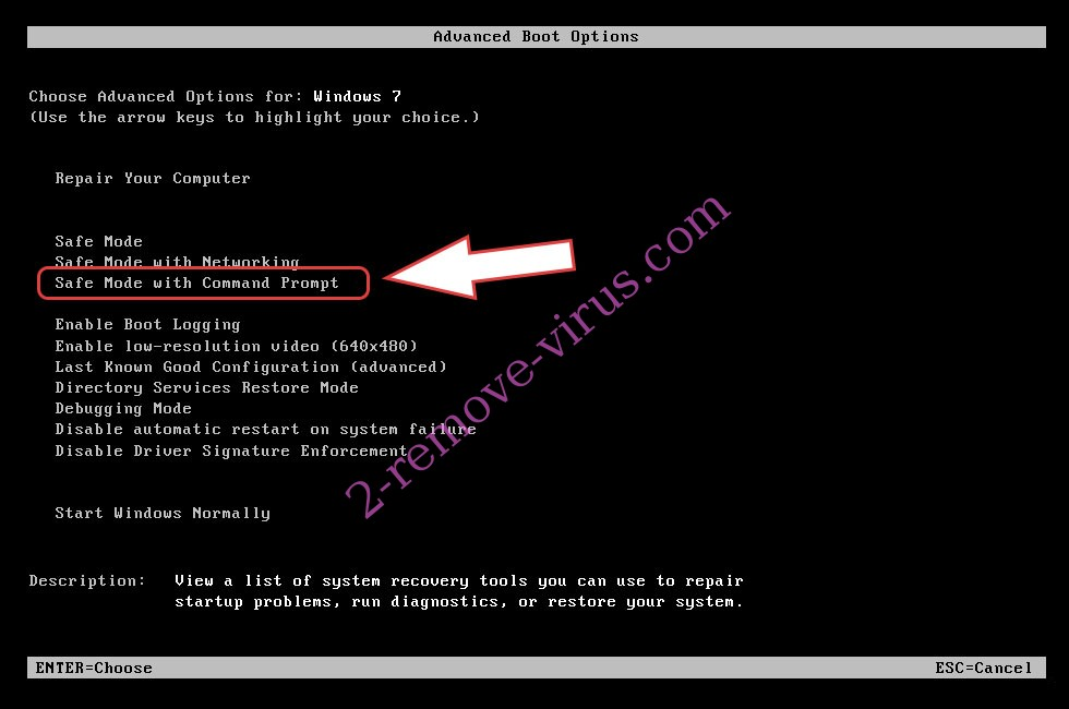 Remove .tro file virus - boot options
