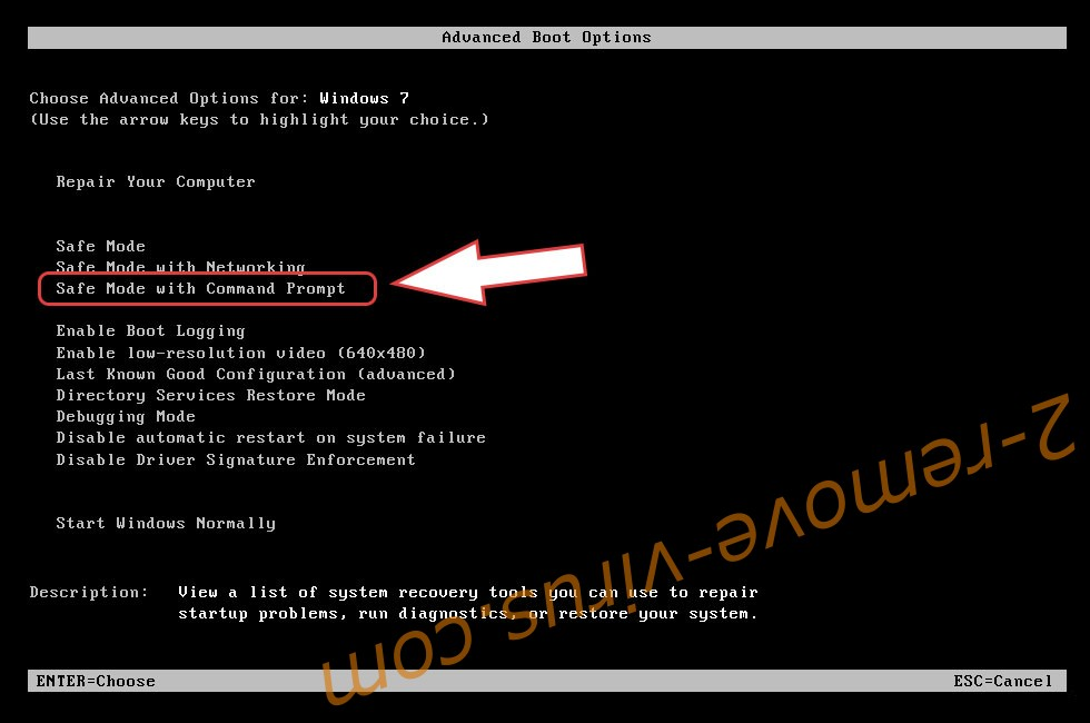 Remove Radman ransomware file virus - boot options