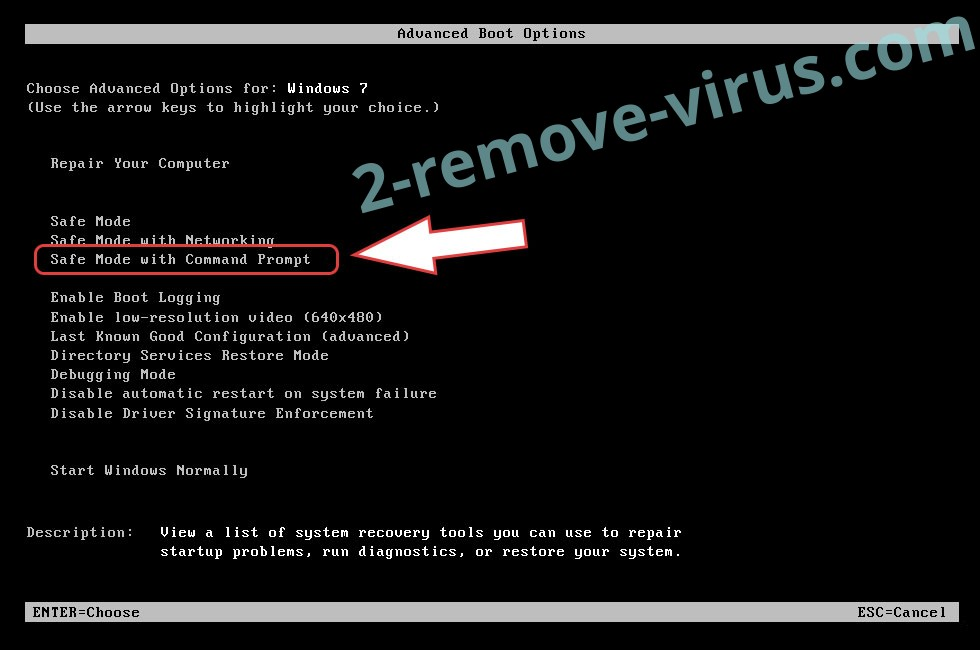 Remove 4rw5w ransomware virus - boot options