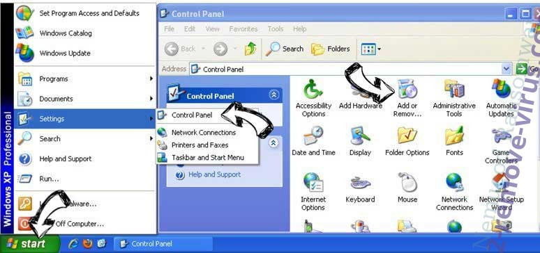 Remove Search.searchwag.com from Windows XP