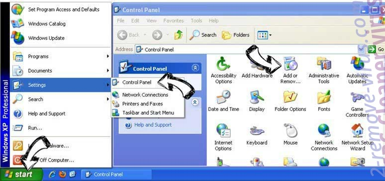 Remove Tools Plus ads from Windows XP