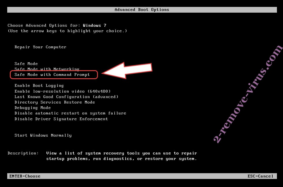 Remove WALAN ransomware - boot options