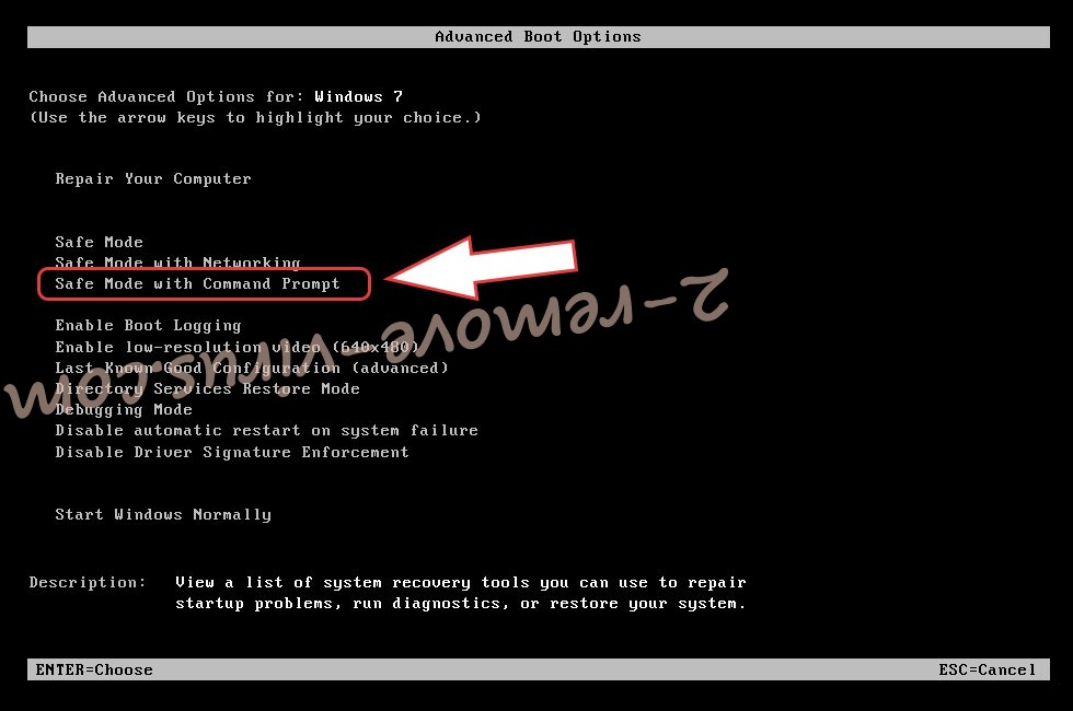 Remove Lukitus ransomware virus - boot options
