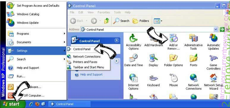 Remove Search.yourcurrentnewsnow.com from Windows XP