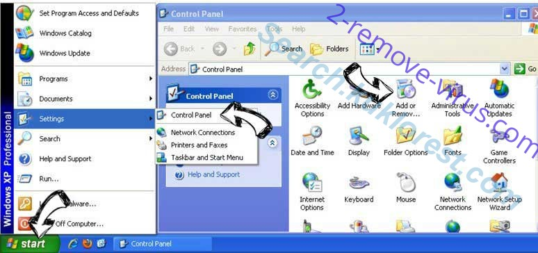 Remove eFast Browser Ads from Windows XP