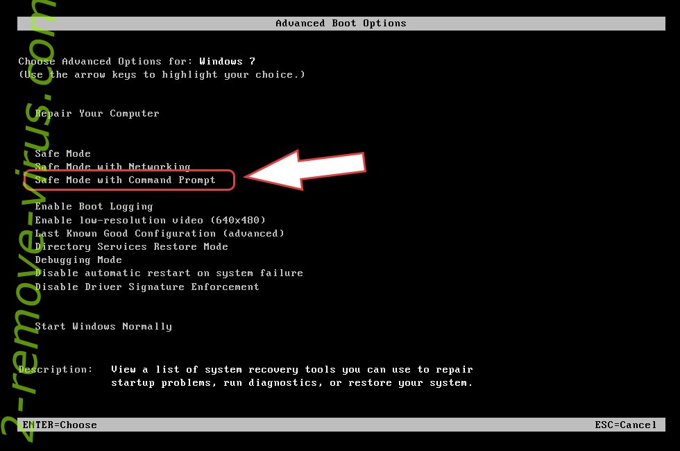 Remove Rotor ransomware virus - boot options