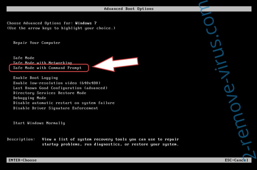 Remove National Consumer Center Virus - boot options