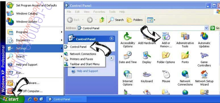 Remove GiffySocial Toolbar from Windows XP