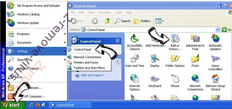Remove handy-tab.com from Windows XP