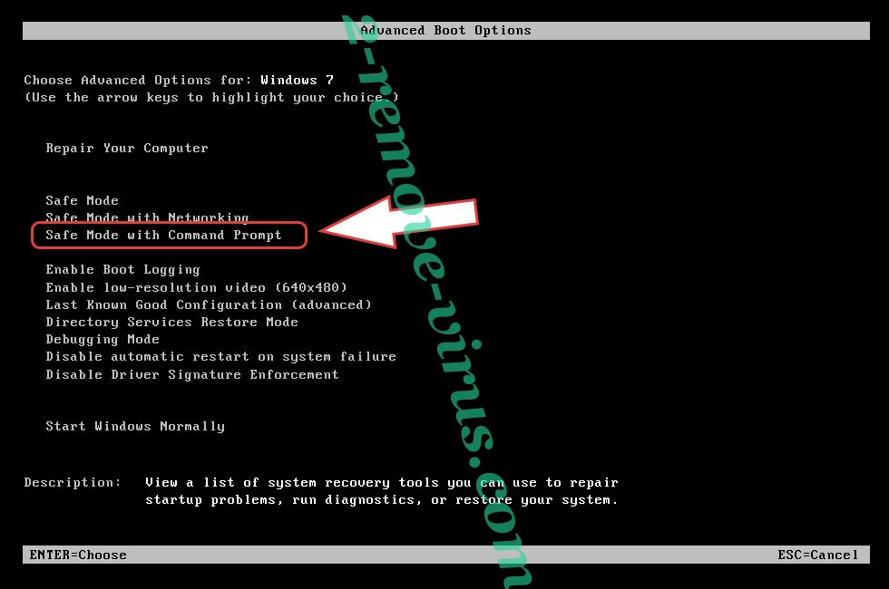 Remove EnybenyCrypt ransomware - boot options