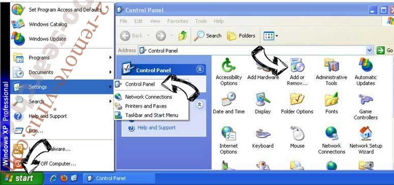 Remove SportHero Toolbar from Windows XP