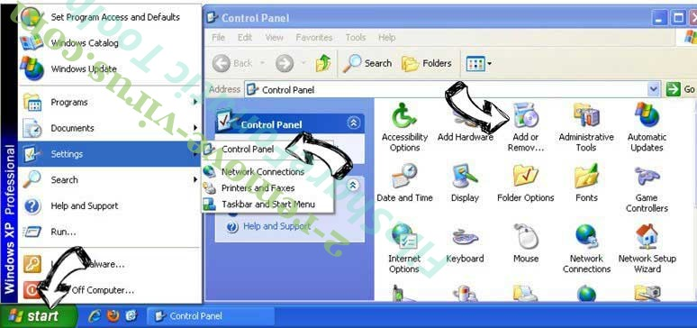 Remove Mojotab.com from Windows XP