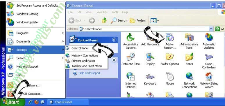 Remove Rimuovere Baidu Toolbar from Windows XP