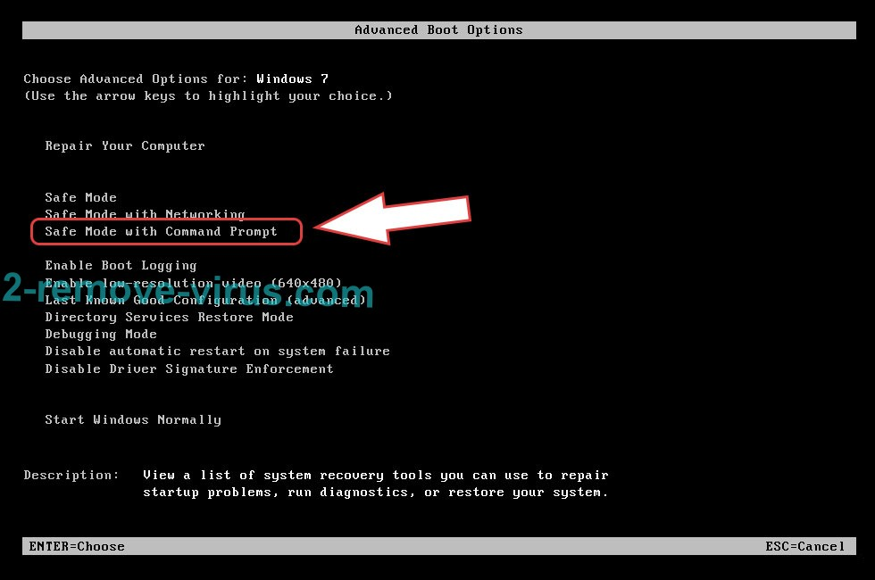 Remove Lightning Ransomware - boot options