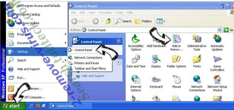 Remove .ccc File Extension Virus from Windows XP
