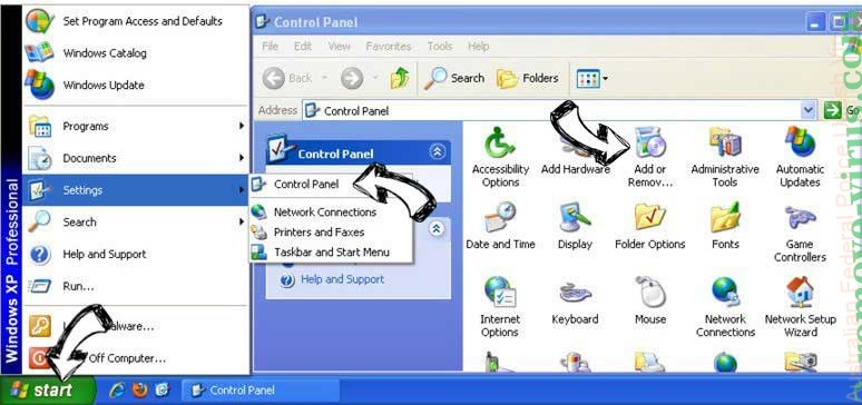 Remove Search.everydaytab.com from Windows XP